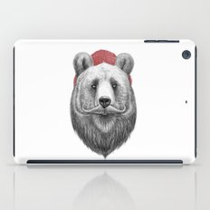 bearded bear iPad Case