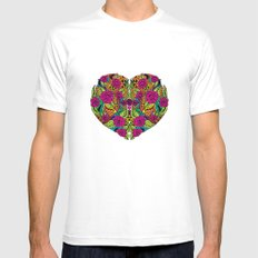 I Heart White Mens Fitted Tee SMALL