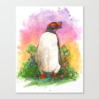 Mr. Penguin is Chillin Canvas Print
