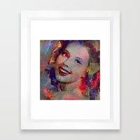 Smile of  Pin Up  Framed Art Print