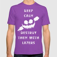 Keep Calm And Destroy Th… Mens Fitted Tee Ultraviolet SMALL