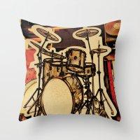Drumz Throw Pillow