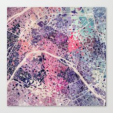 Paris mosaic Canvas Print