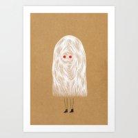 Glam Ghost Art Print