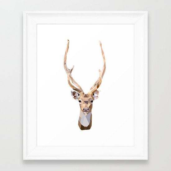 Geo Deer Framed Art Print