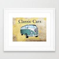Classic Cars 2 Framed Art Print