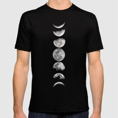 Phases Of The Moon Mens Fitted Tee Black SMALL