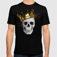 Royal Skull Mens Fitted Tee Black SMALL