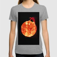 Solar Flare Womens Fitted Tee Tri-Grey SMALL
