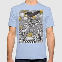 Roller Coaster Ride Mens Fitted Tee Tri-Blue SMALL