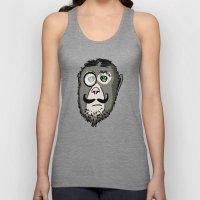 Detective Monkey Head Unisex Tank Top