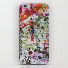 Creative Person At Work iPhone & iPod Skin