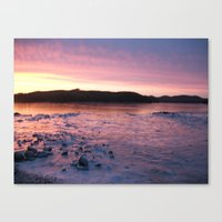 Frozen Sunset 3 - Pink Lemonade Canvas Print