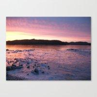 Frozen Sunset 3 - Pink L… Canvas Print