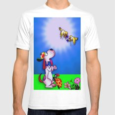 Sunny Day Mens Fitted Tee White SMALL