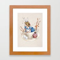 Tea Time in Wonderland Framed Art Print