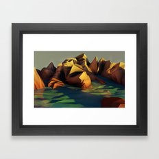 summer heat Framed Art Print