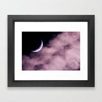 Crescent Moon On A Fluff… Framed Art Print