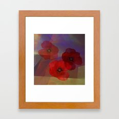 Summer Promise With Red … Framed Art Print