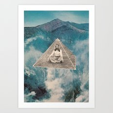 Flotar Entre Las Nubes  Art Print