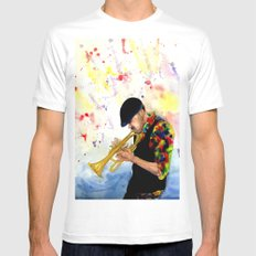 The Colors of Jazz SMALL White Mens Fitted Tee