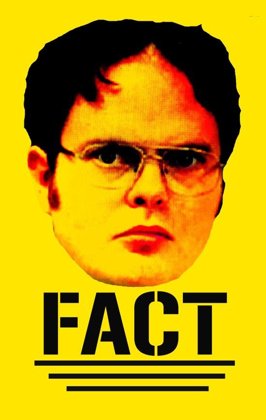 """Dwight Schrute """"FACT"""" Art Print"""
