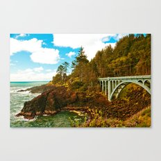 Bridge on Otter Crest Loop Drive, the Oregon Coast Canvas Print