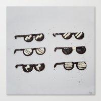 Oreo Sunglasses Canvas Print