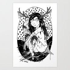 tree lady Art Print
