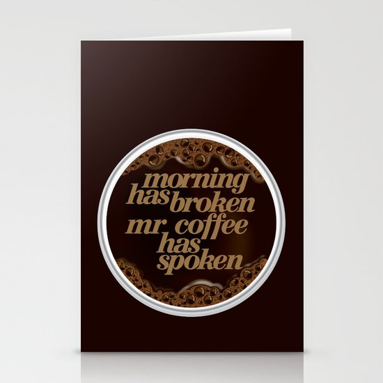 Morning coffee Stationery Card