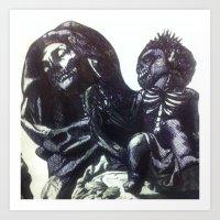 The  Virgin Zombie Art Print