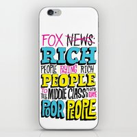 Fox News: Rich People, Poor People iPhone & iPod Skin