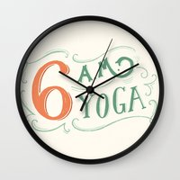 6AM Yoga Wall Clock