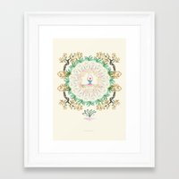 yoga garden I Framed Art Print