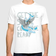 Get the Swan costume ready. SMALL White Mens Fitted Tee