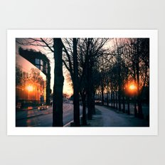 PARIS Sun Reflection Art Print