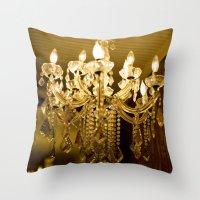 golden light::charleston Throw Pillow
