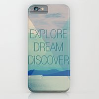 iPhone & iPod Case featuring Explore Dream Discover by farsidian