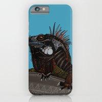 iguana blue iPhone 6 Slim Case