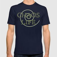 ChaosLife: The Print Mens Fitted Tee Navy SMALL