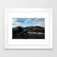 Lonely rider in the evening light...  Framed Art Print
