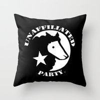 UNAFFILIATED PARTY STENC… Throw Pillow