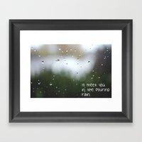 I'll Meet You In The Pou… Framed Art Print
