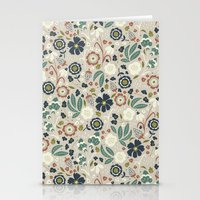 Flourishing Florals (Light-Green) Stationery Cards