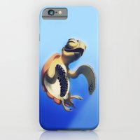 turtle iPhone & iPod Cases featuring Turtle by Anya McNaughton