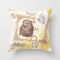 alice in wonderland Throw Pillow