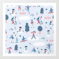 We Love Snow Art Print