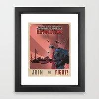 Armoured Revolution Propaganda Poster Framed Art Print