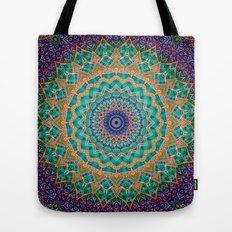 Travel Into Dimensions Mandala. Tote Bag