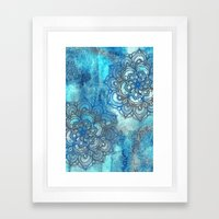 Lost in Blue - a daydream made visible Framed Art Print